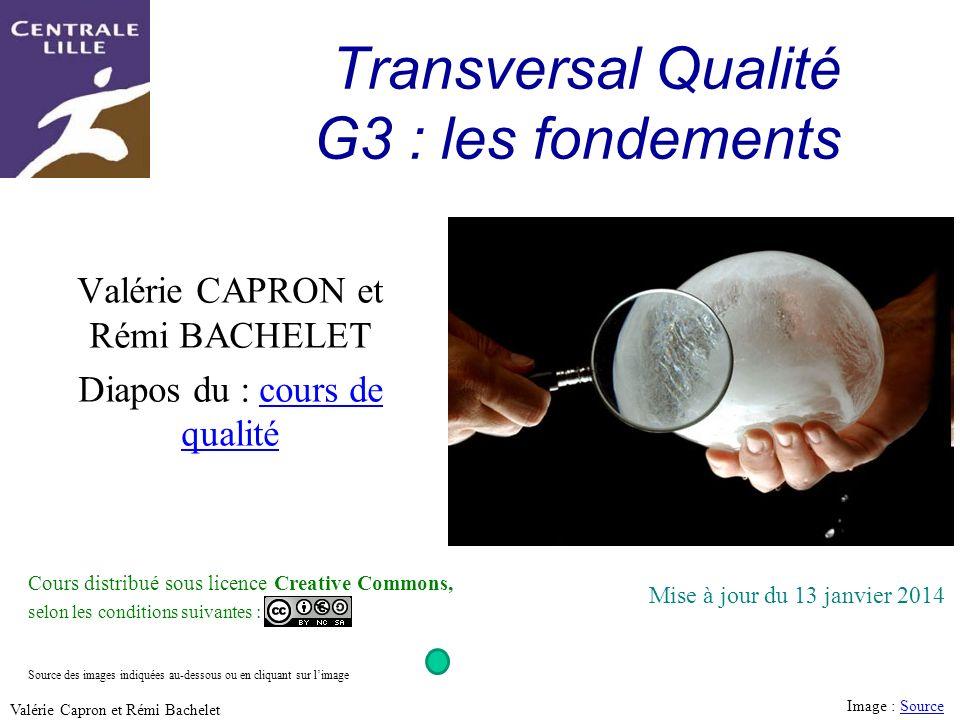 Transversal Qualité G3 : les fondements