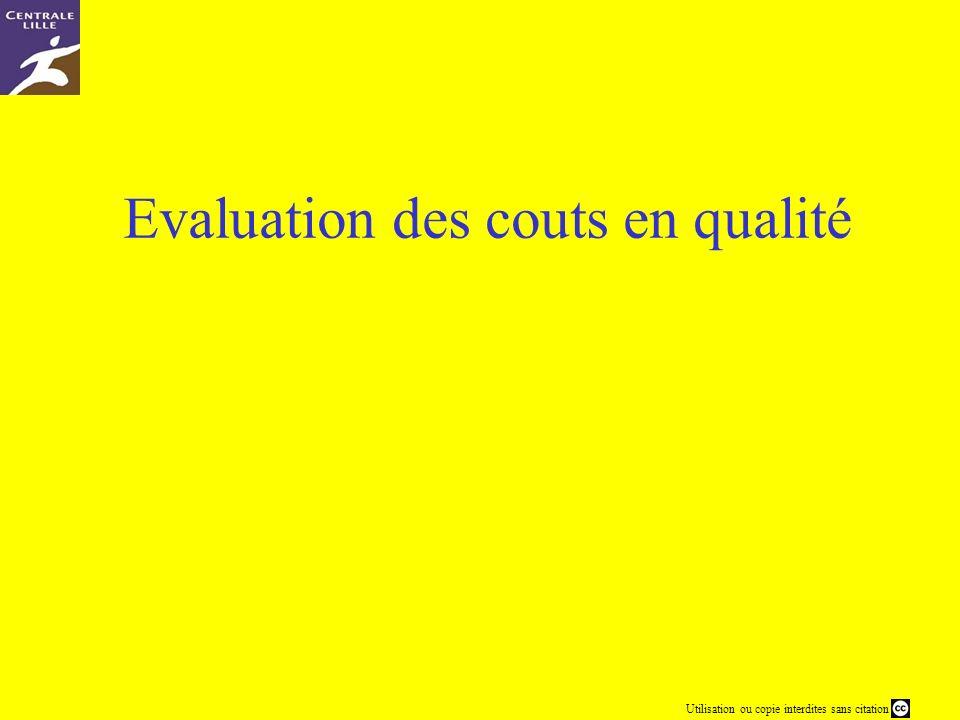 Evaluation des couts en qualité