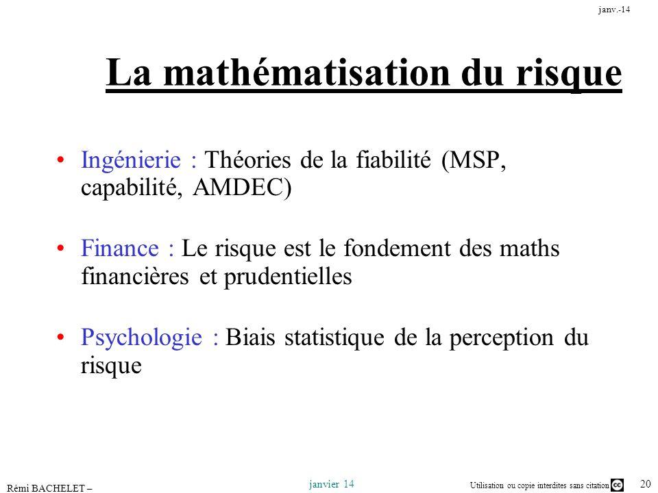 La mathématisation du risque