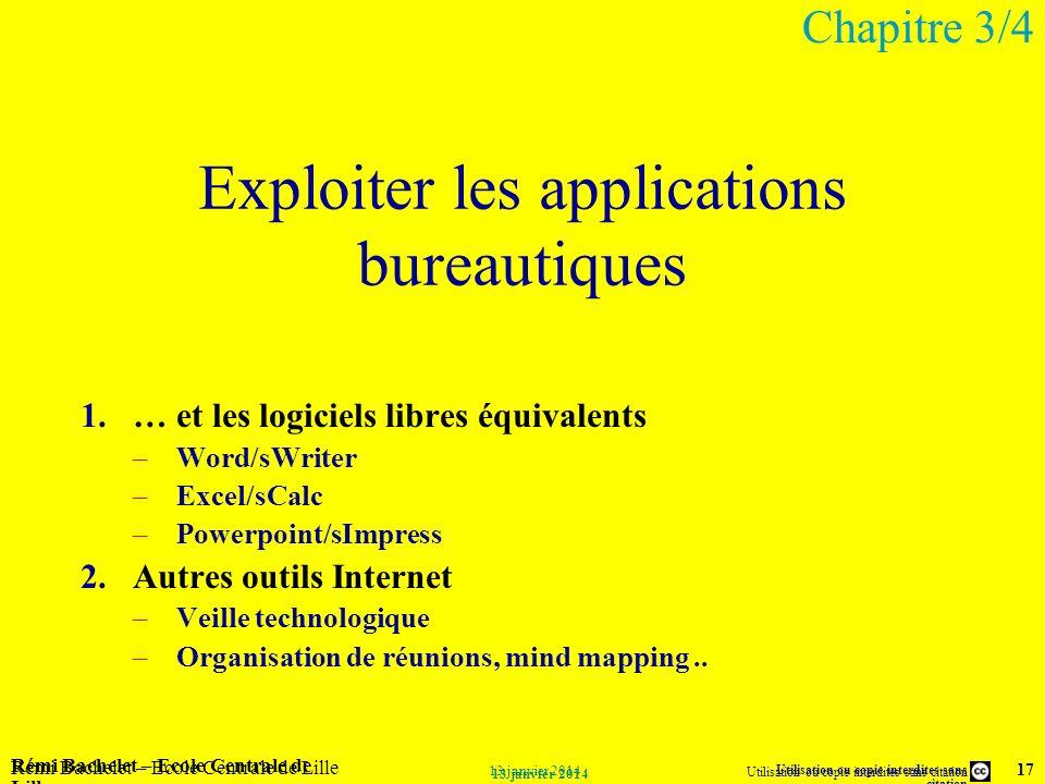 Exploiter les applications bureautiques