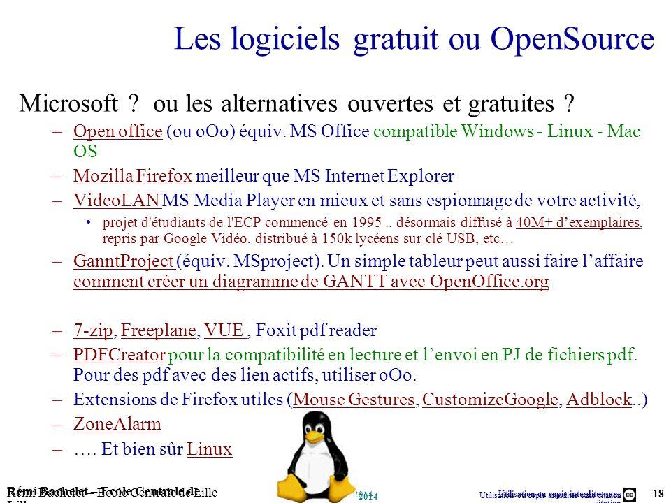 Les logiciels gratuit ou OpenSource