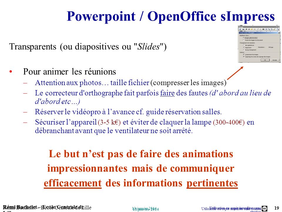 Powerpoint / OpenOffice sImpress