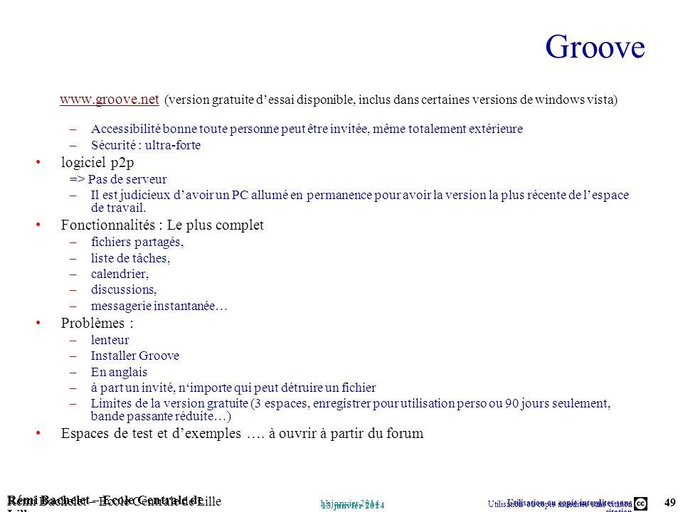Groovewww.groove.net (version gratuite d'essai disponible, inclus dans certaines versions de windows vista)