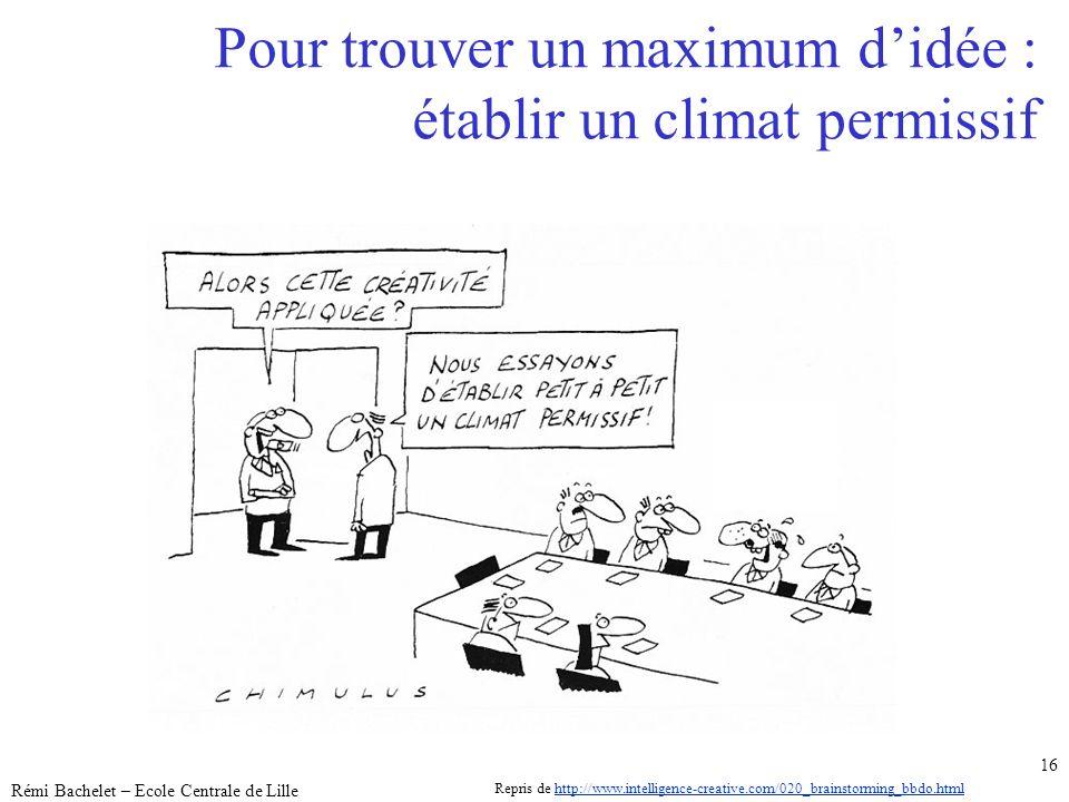 Pour trouver un maximum d'idée : établir un climat permissif