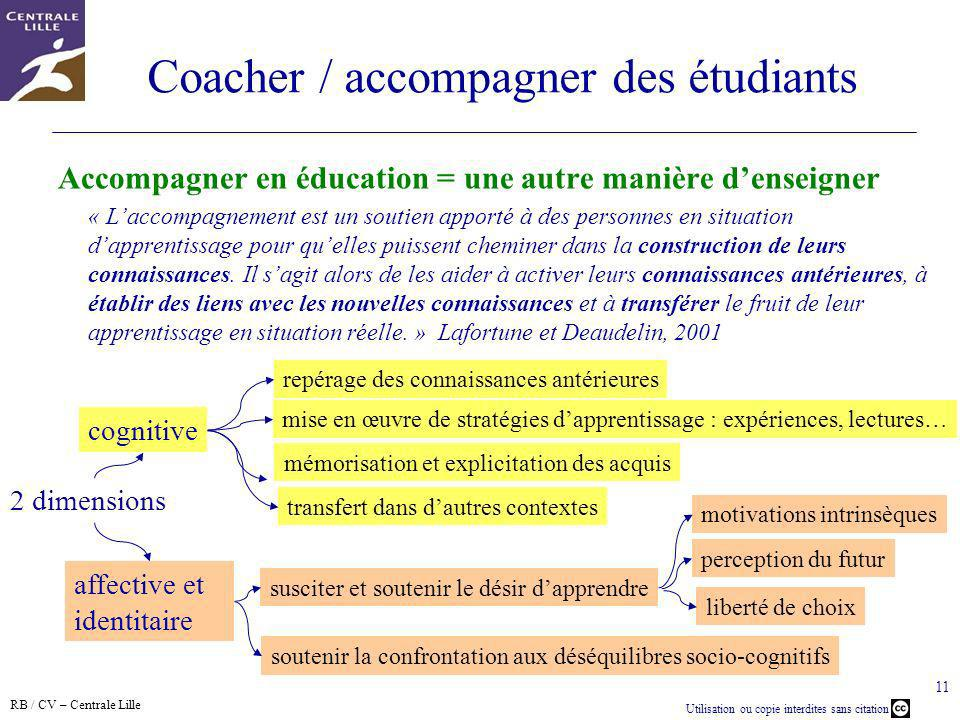 Coacher / accompagner des étudiants