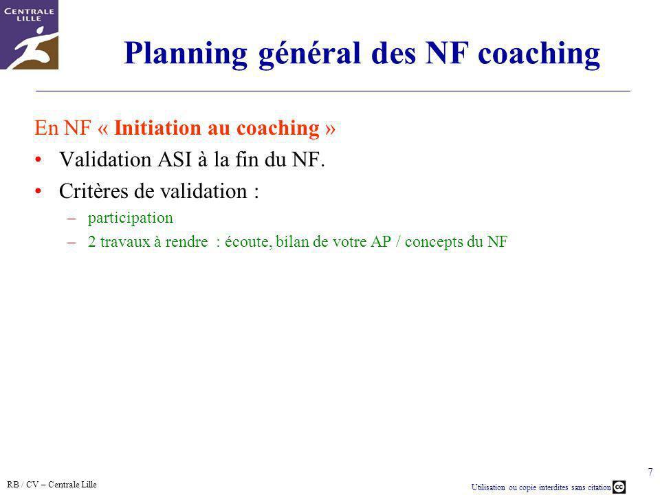 Planning général des NF coaching