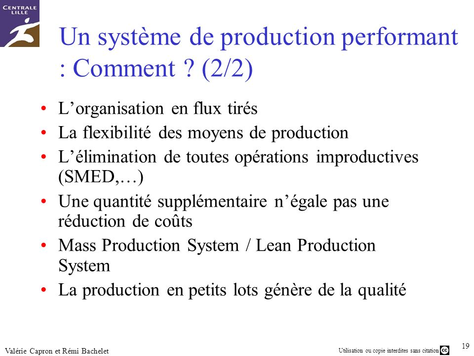 Un système de production performant : Comment (2/2)