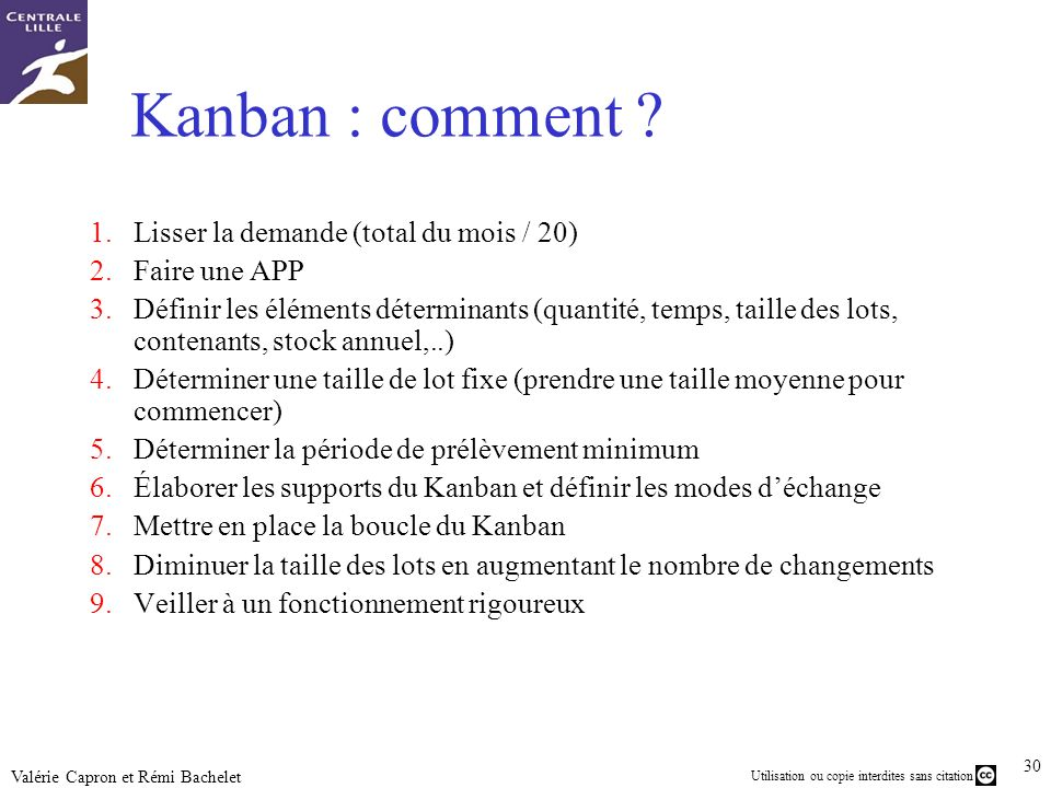 Kanban : comment Lisser la demande (total du mois / 20)