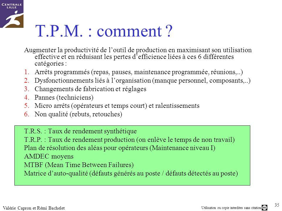 T.P.M. : comment