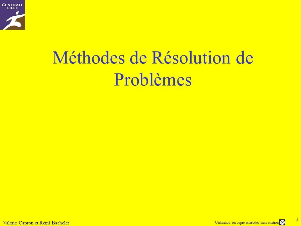 Méthodes de Résolution de Problèmes