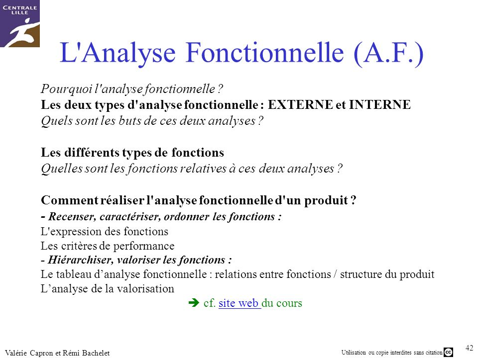 L Analyse Fonctionnelle (A.F.)