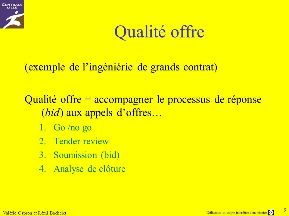 Qualité offre (exemple de l'ingéniérie de grands contrat)