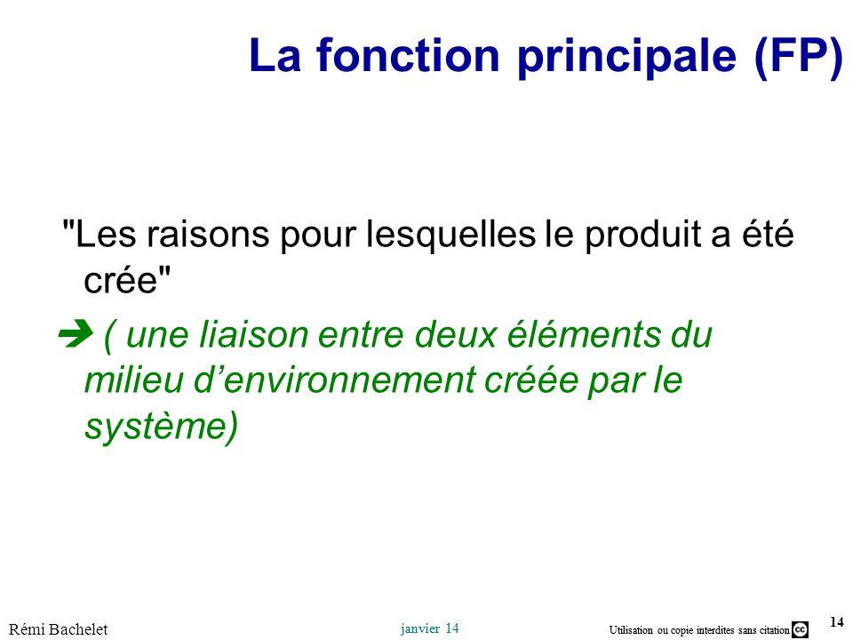 La fonction principale (FP)