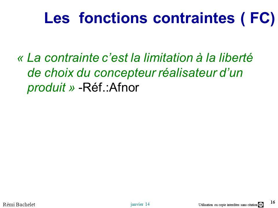 Les fonctions contraintes ( FC)