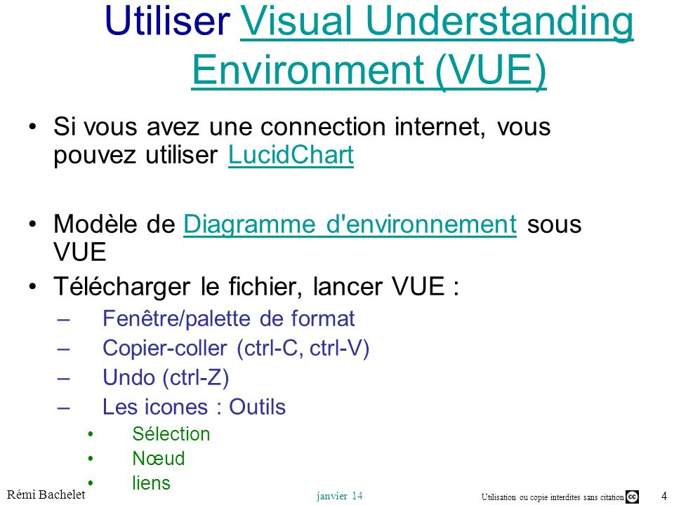 Utiliser Visual Understanding Environment (VUE)