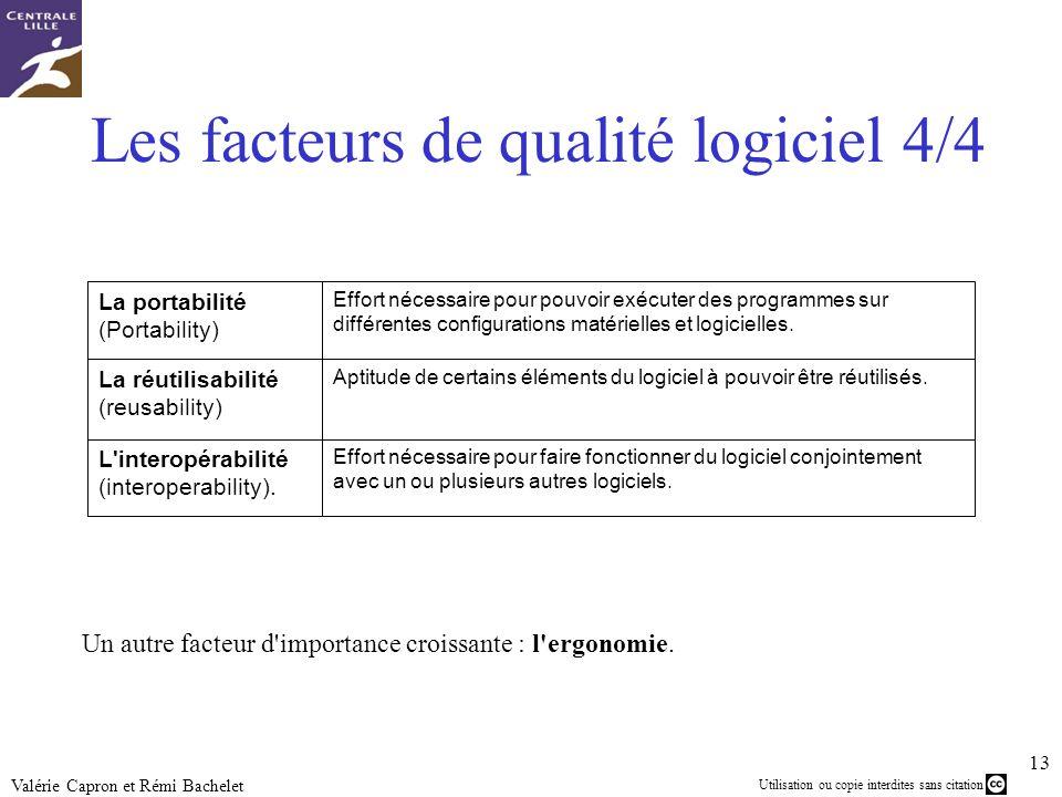 Les facteurs de qualité logiciel 4/4