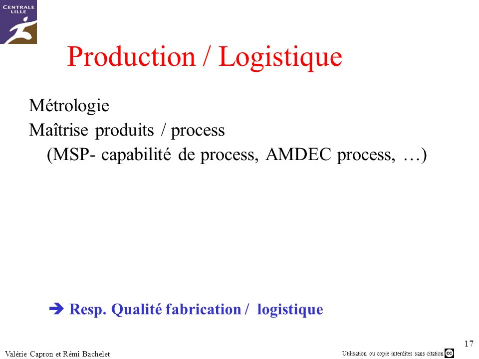 Production / Logistique