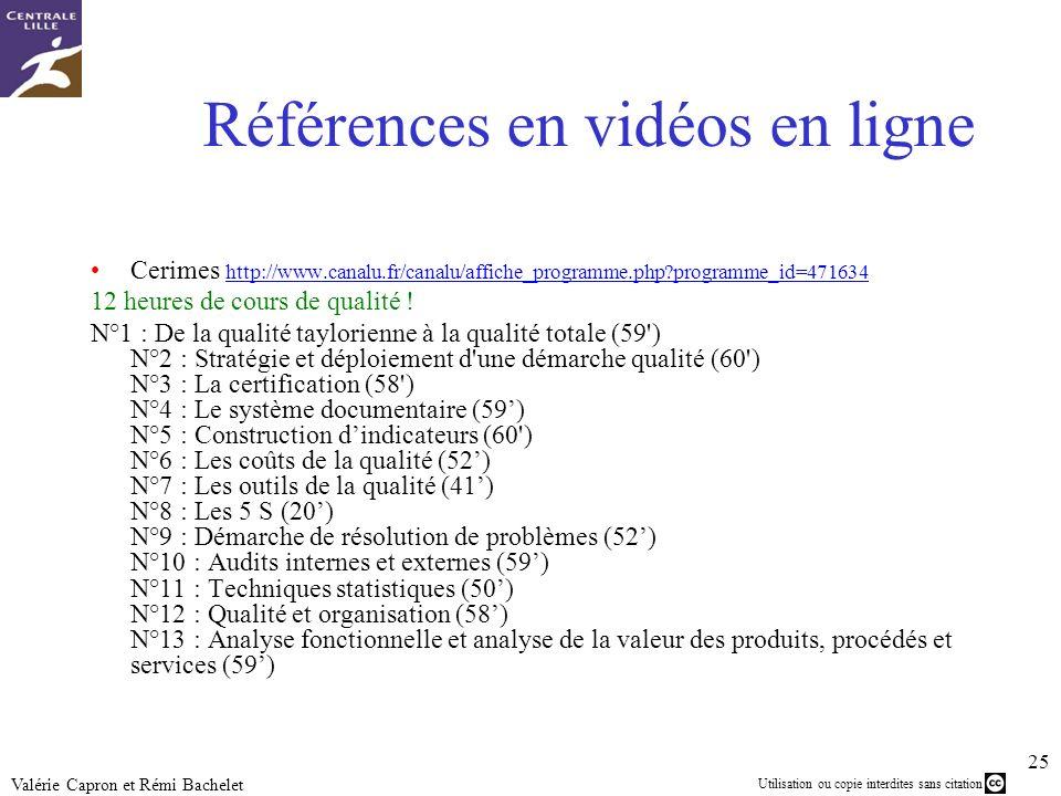 Références en vidéos en ligne