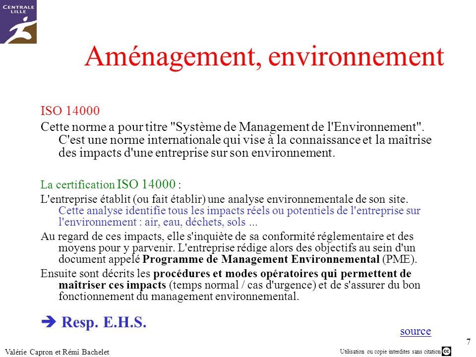 Aménagement, environnement
