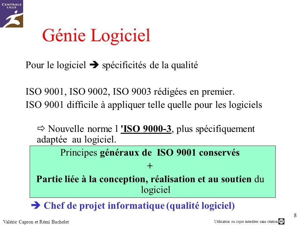 Génie Logiciel Pour le logiciel  spécificités de la qualité
