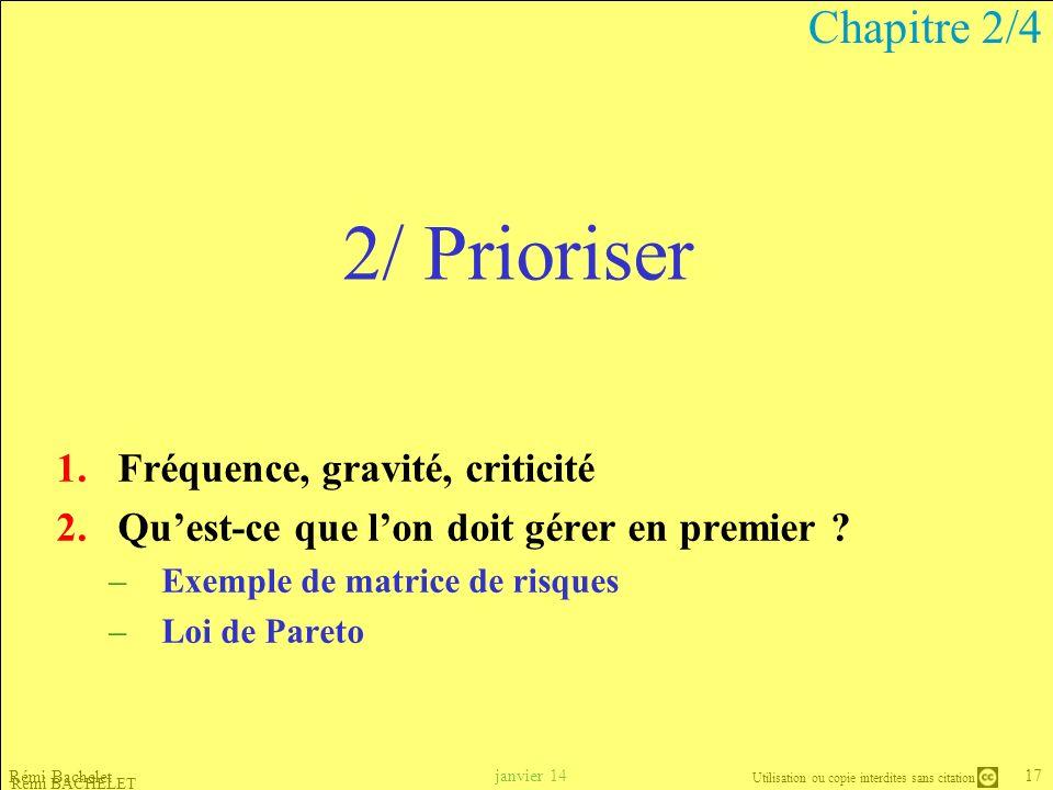 2/ Prioriser Chapitre 2/4 Fréquence, gravité, criticité
