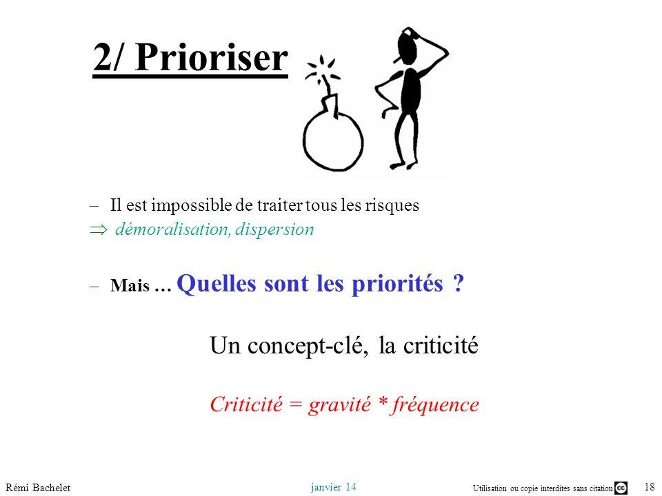 2/ Prioriser Un concept-clé, la criticité