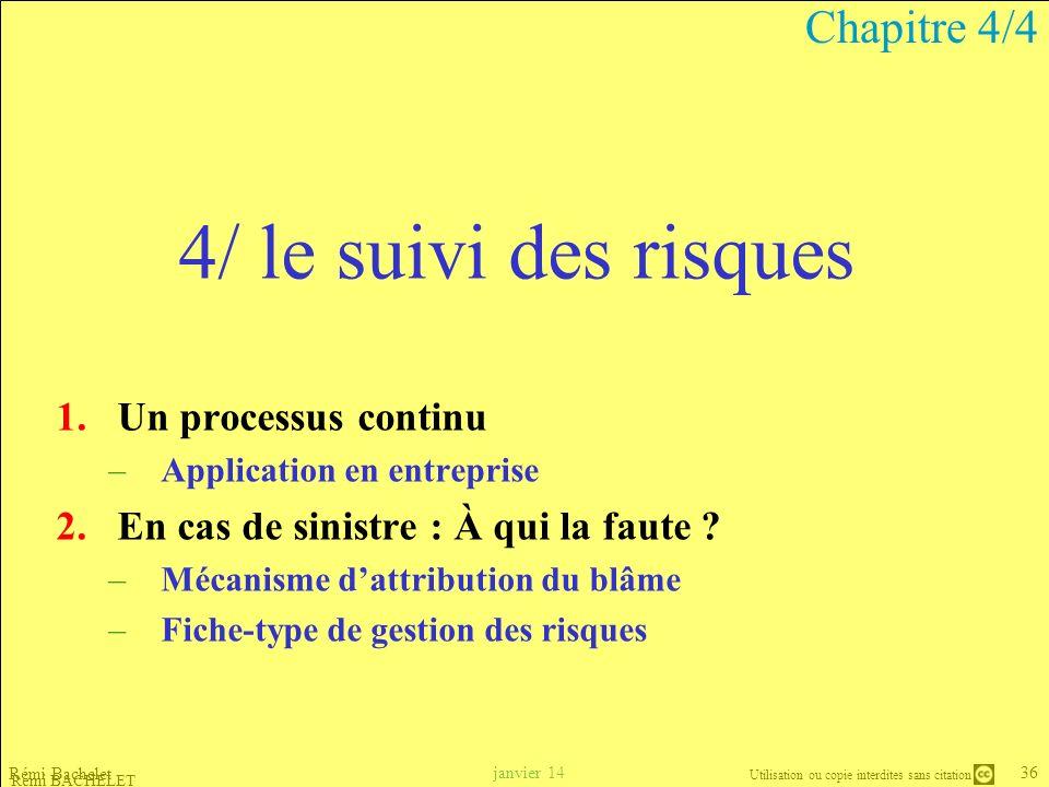 4/ le suivi des risques Chapitre 4/4 Un processus continu