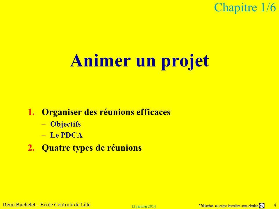 Animer un projet Chapitre 1/6 Organiser des réunions efficaces