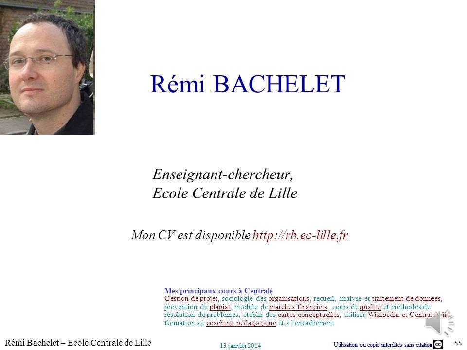 Rémi BACHELET Enseignant-chercheur, Ecole Centrale de Lille