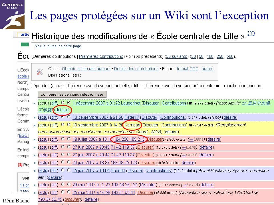 Les pages protégées sur un Wiki sont l'exception