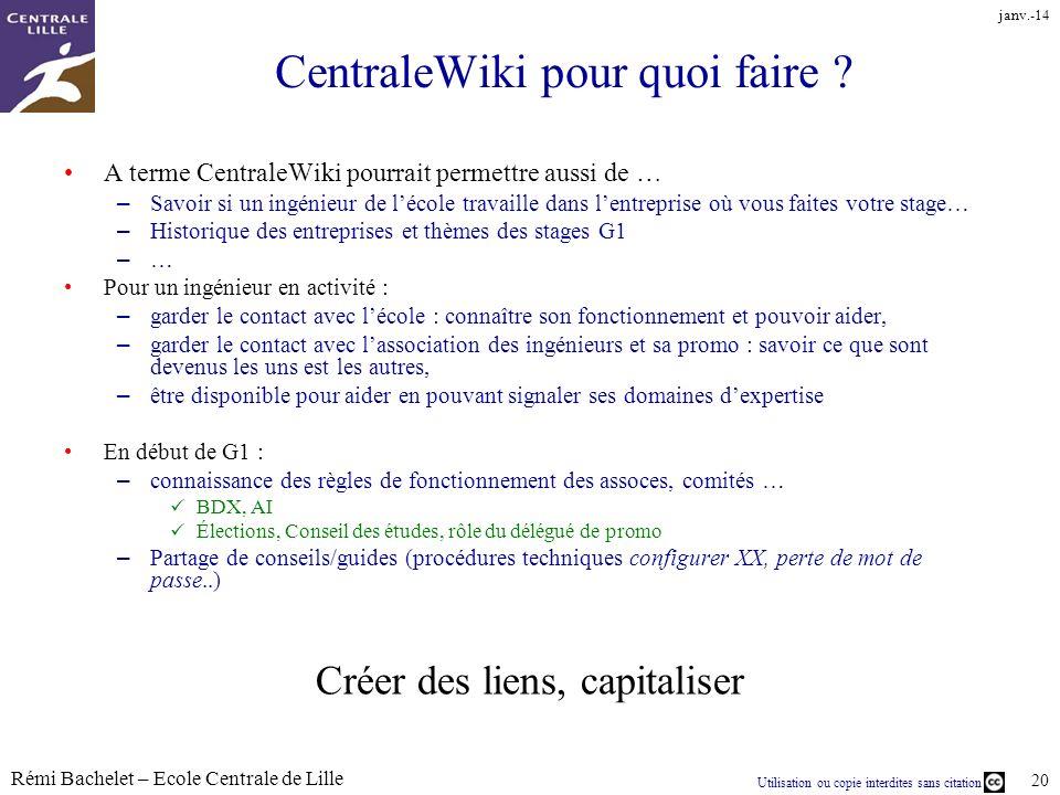 CentraleWiki pour quoi faire