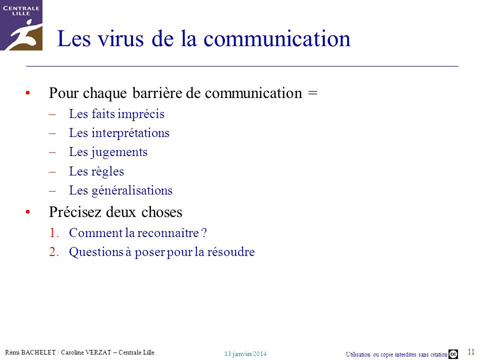 Les virus de la communication