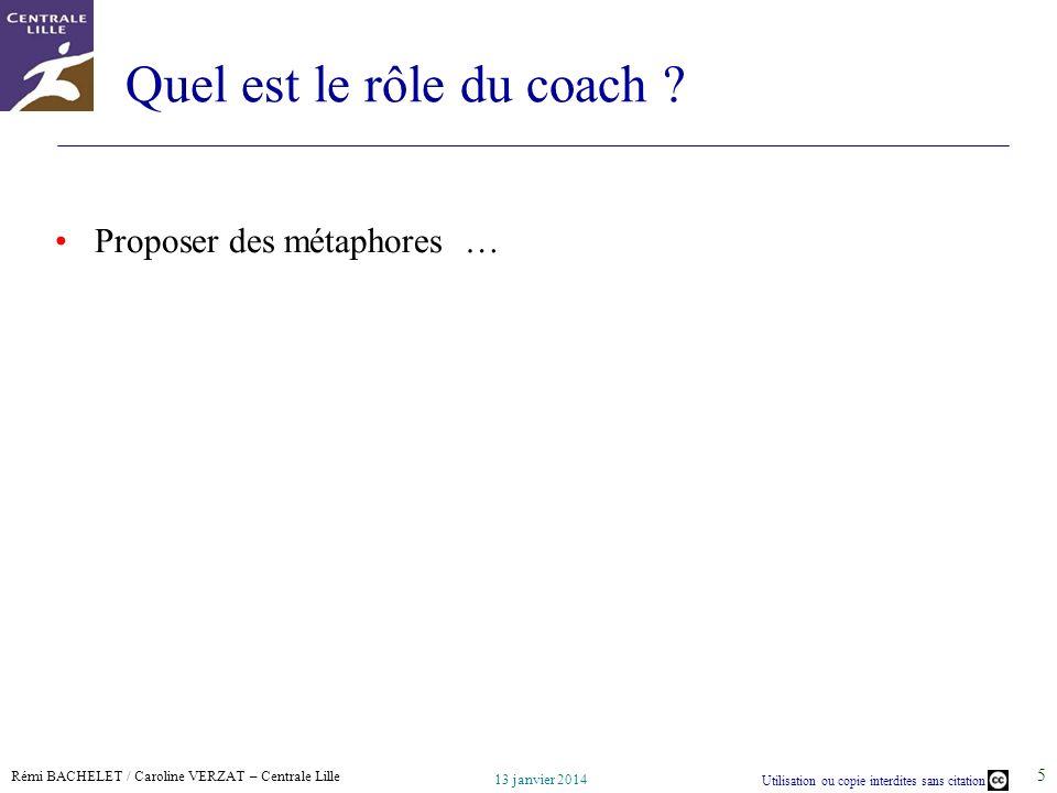 Quel est le rôle du coach