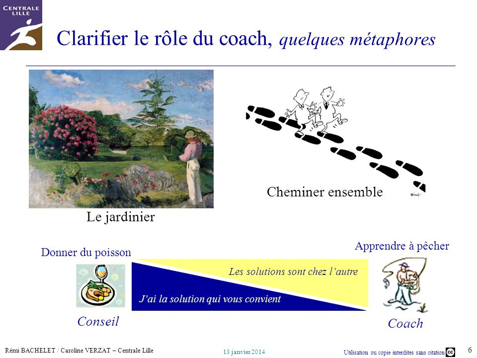 Clarifier le rôle du coach, quelques métaphores