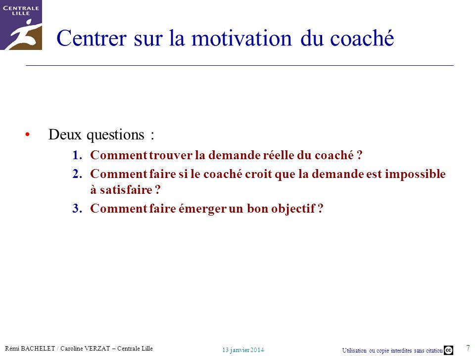 Centrer sur la motivation du coaché