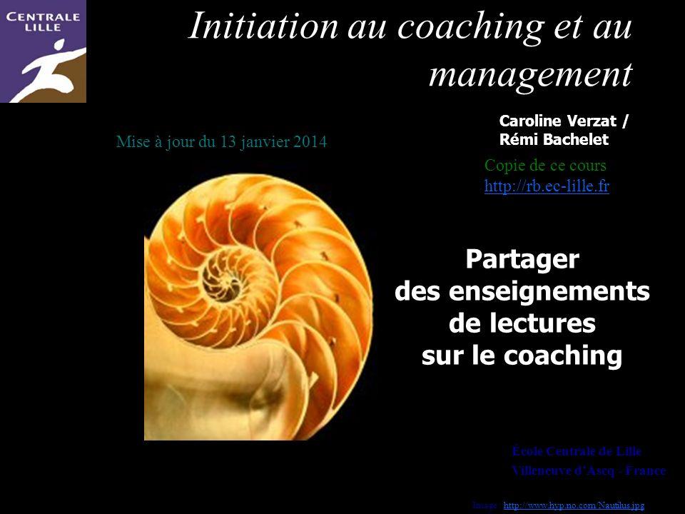 Partager des enseignements de lectures sur le coaching