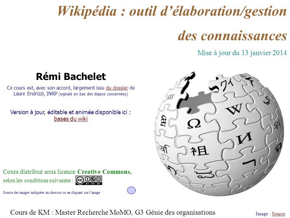 Wikipédia : outil d'élaboration/gestion des connaissances
