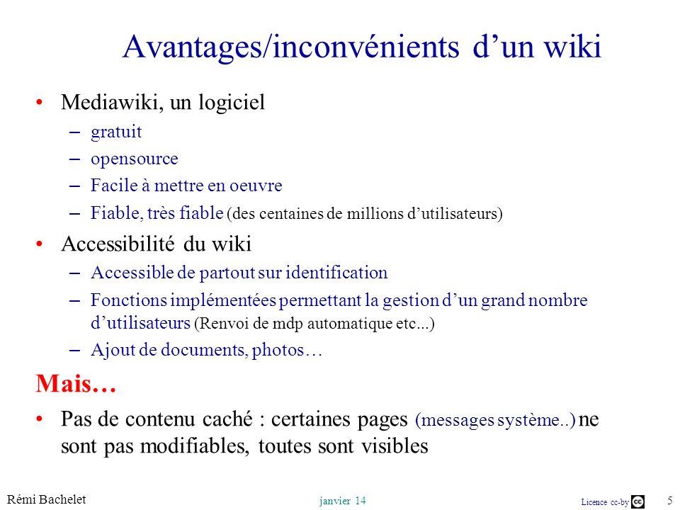 Avantages/inconvénients d'un wiki
