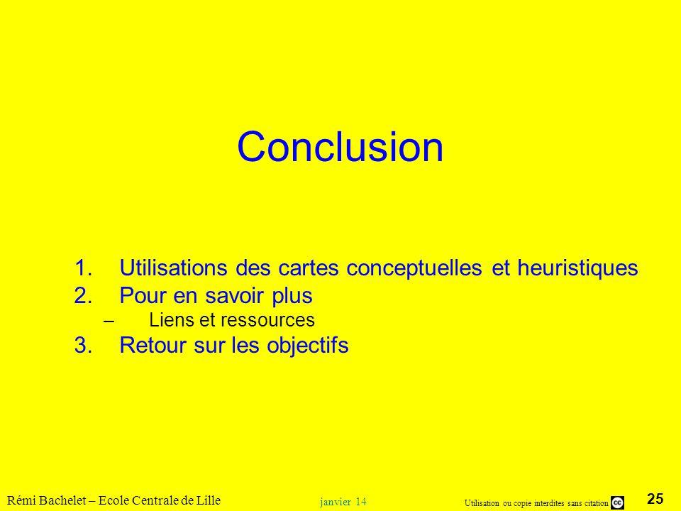 Conclusion Utilisations des cartes conceptuelles et heuristiques