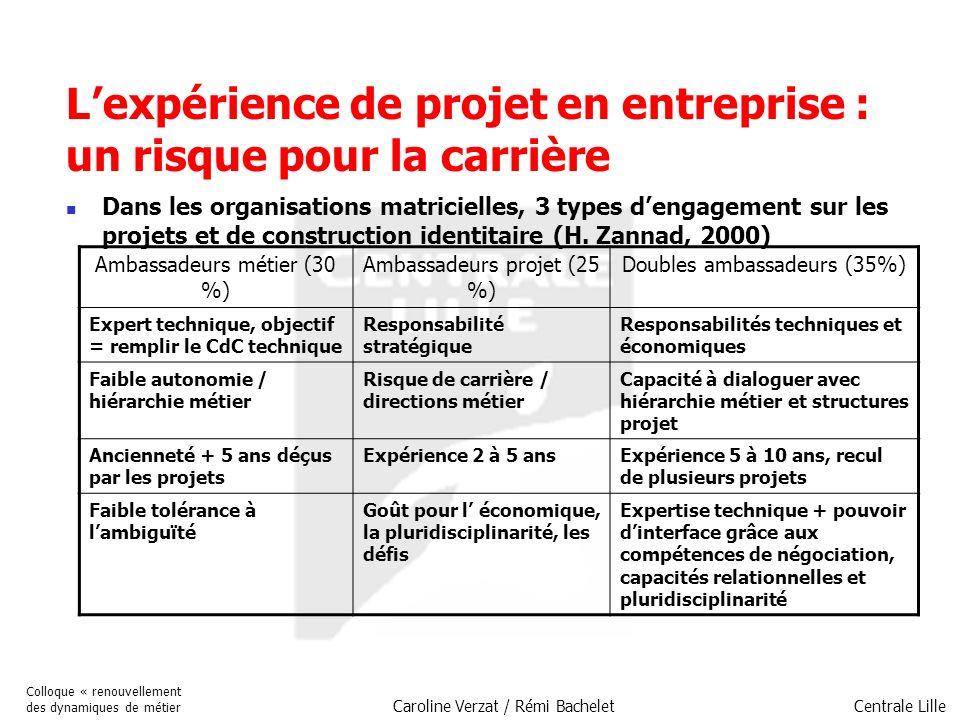 L'expérience de projet en entreprise : un risque pour la carrière