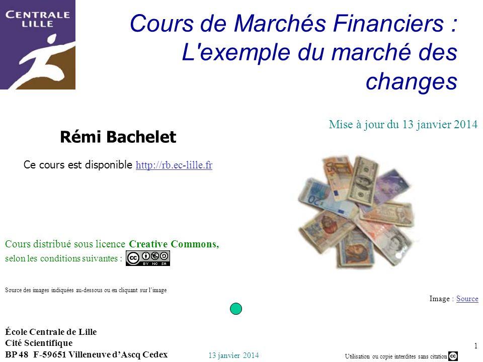 Cours de Marchés Financiers : L exemple du marché des changes