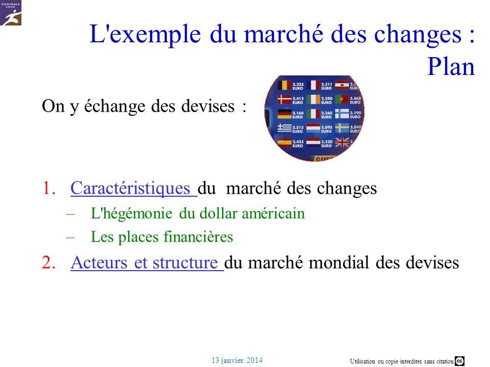 L exemple du marché des changes : Plan