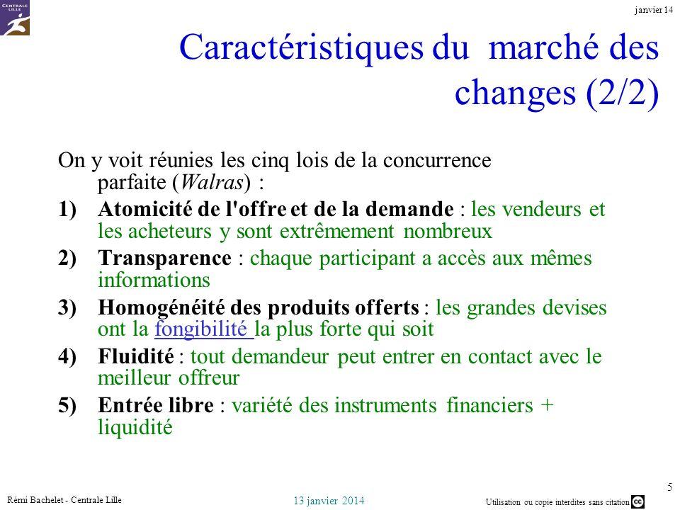 Caractéristiques du marché des changes (2/2)