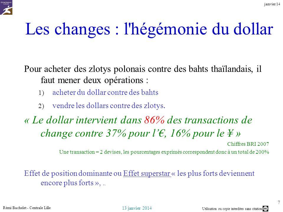 Les changes : l hégémonie du dollar