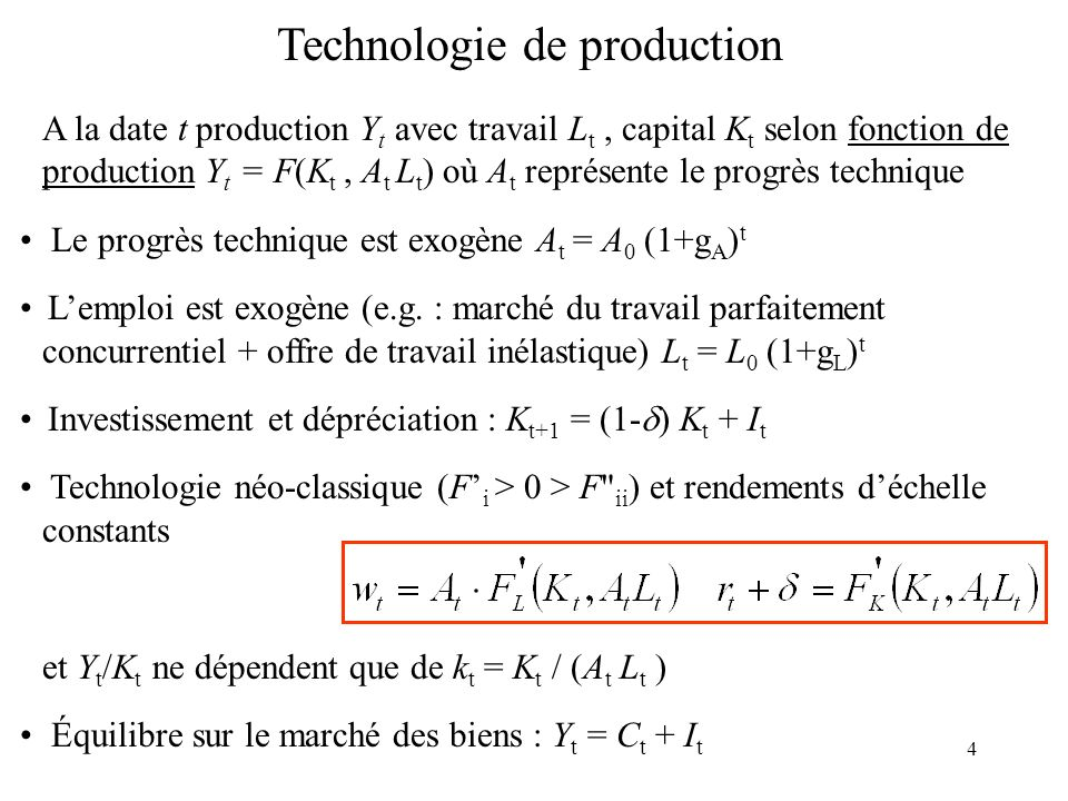 Technologie de production