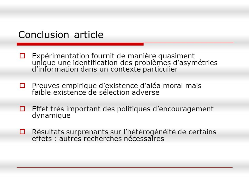 Conclusion article