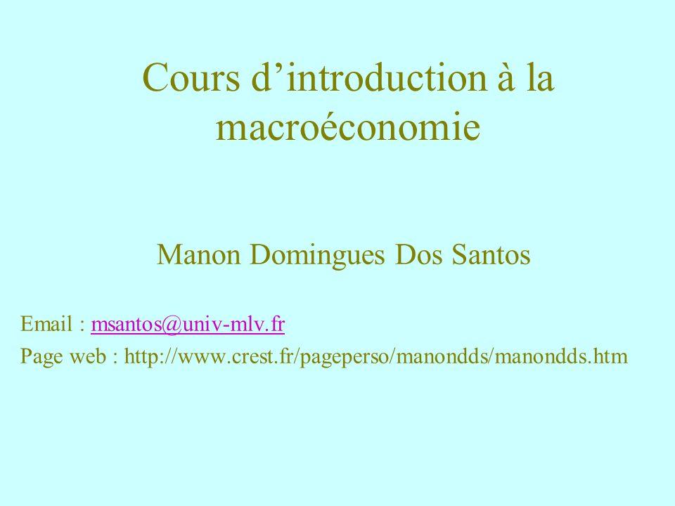 Cours d'introduction à la macroéconomie