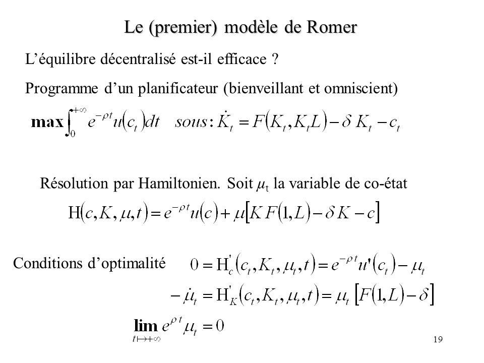 Le (premier) modèle de Romer