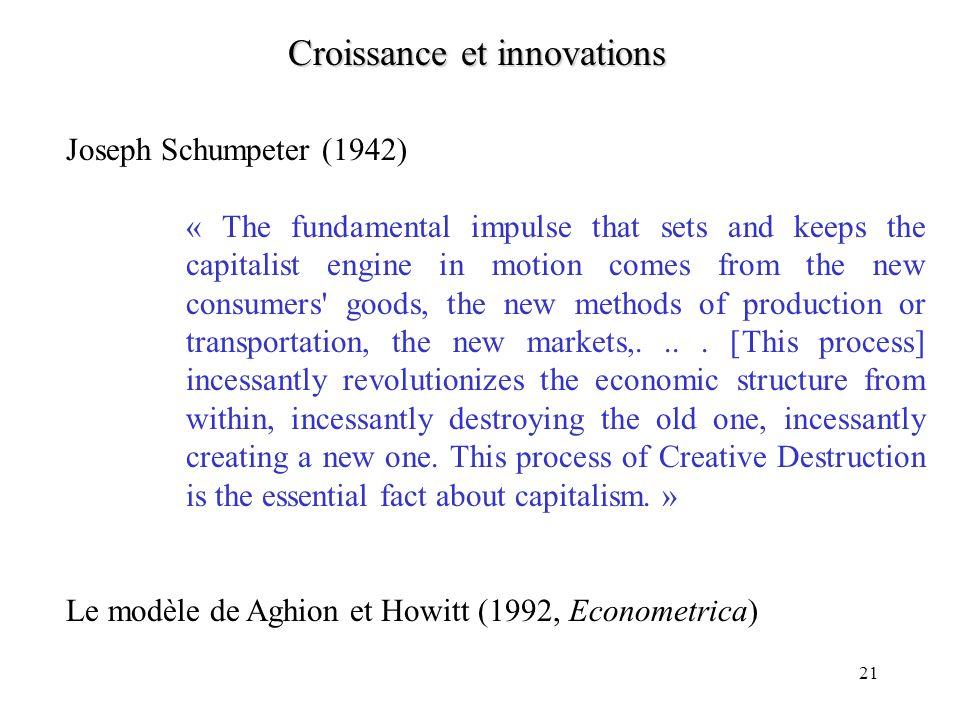 Croissance et innovations