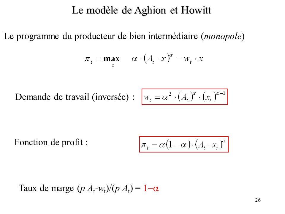Le modèle de Aghion et Howitt